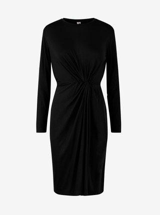 Černé pouzdrové šaty Pieces Neora