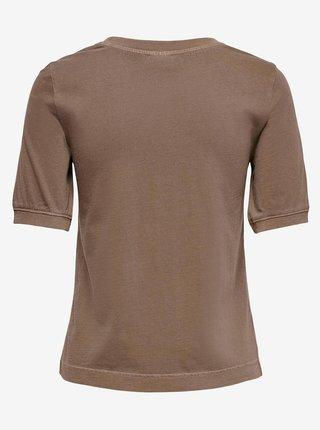 Hnědé tričko Jacqueline de Yong Darling