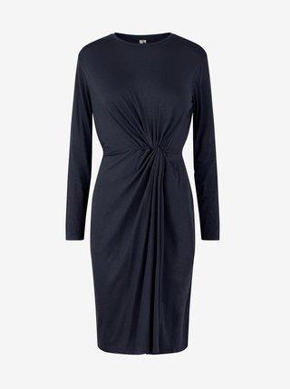 Tmavě modré pouzdrové šaty Pieces Neora
