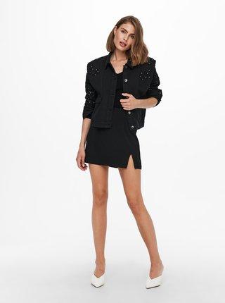 Rifľové bundy pre ženy ONLY - čierna