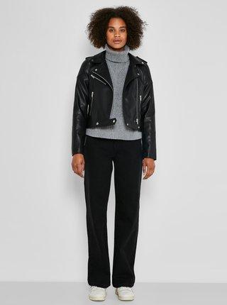Koženkové, kožené bundy pre ženy Noisy May - čierna