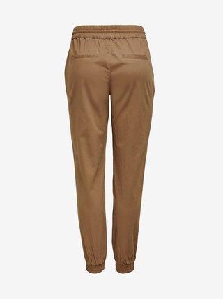 Hnědé kalhoty se zavazováním ONLY Kelda