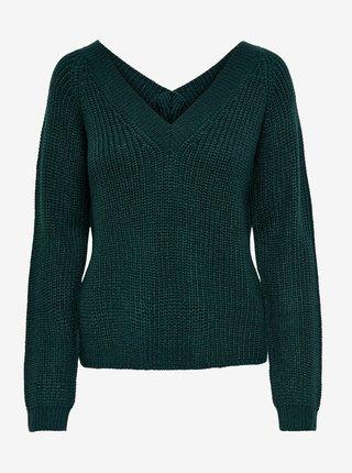 Tmavě zelený svetr Jacqueline de Yong Lori