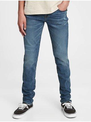 Modré klučičí džíny stacked ankle skinny jeans with stretch