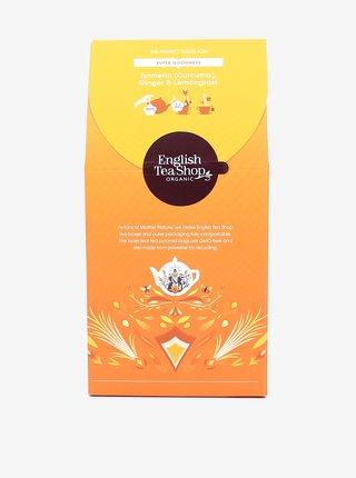 Čaj Kurkuma, zázvor a citronová tráva English Tea Shop (15 pyramidek)