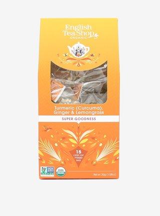 Čaj Kurkuma, zázvor a citrónová tráva English Tea Shop (15 pyramíd)