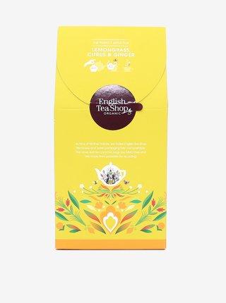 Bylinný čaj Citrónová tráva, zázvor a citrusy English Tea Shop (15 pyramidek)