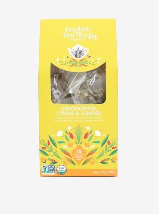 Bylinný čaj Citrónová tráva, zázvor a citrusy English Tea Shop (15 pyramíd)