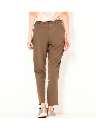 Hnědé zkrácené kalhoty CAMAIEU