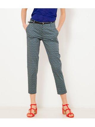 Modré vzorované skrátené nohavice CAMAIEU