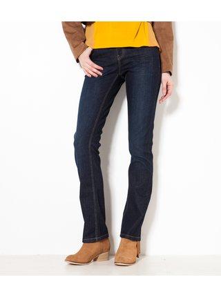 Tmavě modré straight fit džíny CAMAIEU