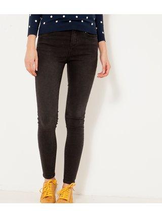 Černé zkrácené skinny fit džíny CAMAIEU