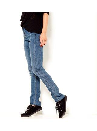 Modré straight fit džíny CAMAIEU