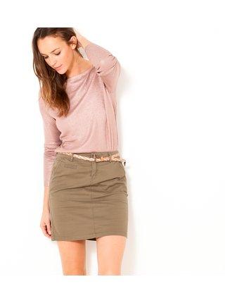 Hnedá púzdrová sukňa CAMAIEU