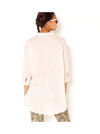 Svetloružová dlhá košeľa CAMAIEU