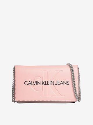 Růžová dámská crossbody kabelka Calvin Klein