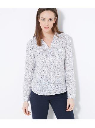 Bílá vzorovaná košile CAMAIEU