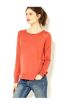 Oranžový lehký svetr CAMAIEU