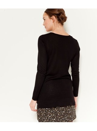 Černý lehký dlouhý svetr CAMAIEU