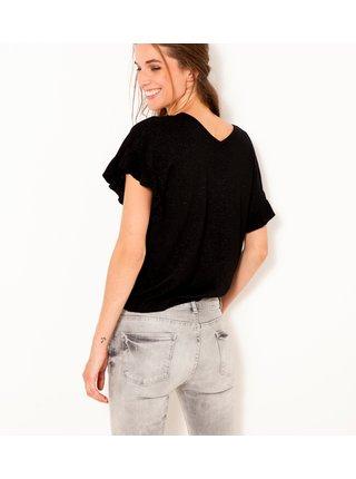 Černé žíhané tričko CAMAIEU