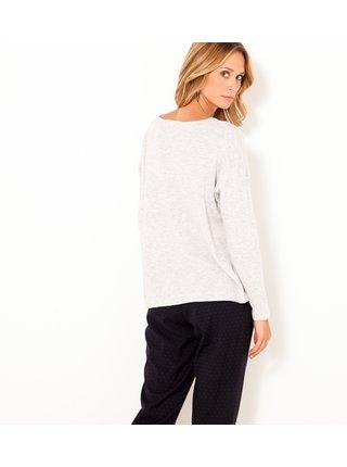 Svetlošedý sveter s prímesou vlny CAMAIEU