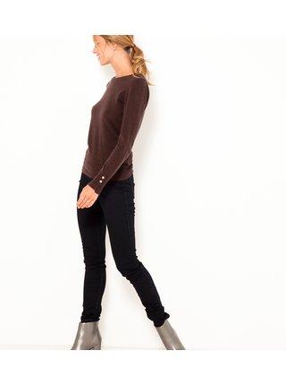 Hnedý sveter s prímesou vlny CAMAIEU