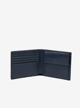 Tmavě modrá pánská kožená peněženka Calvin Klein