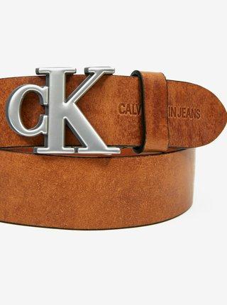 Svetlohnedý pánsky kožený opasok Calvin Klein
