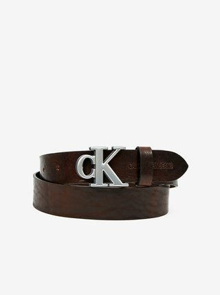 Hnedý pánsky kožený opasok Calvin Klein