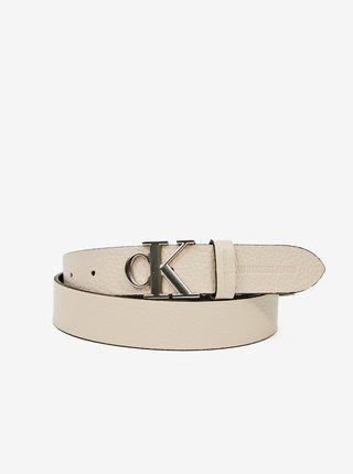 Krémový dámský kožený pásek Calvin Klein