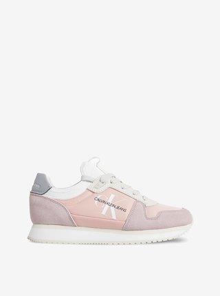 Růžové dámské tenisky v semišové úpravě Calvin Klein