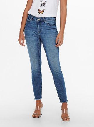 Modré zkrácené skinny fit džíny ONLY Hush