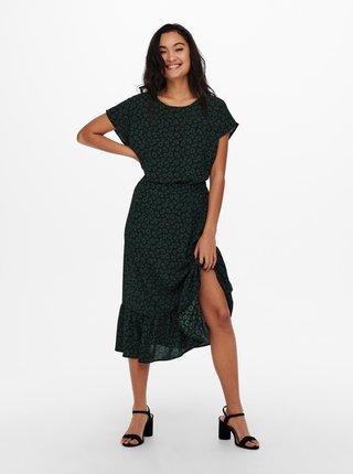 Černo-zelená vzorovaná midi sukně Jacqueline de Yong Piper