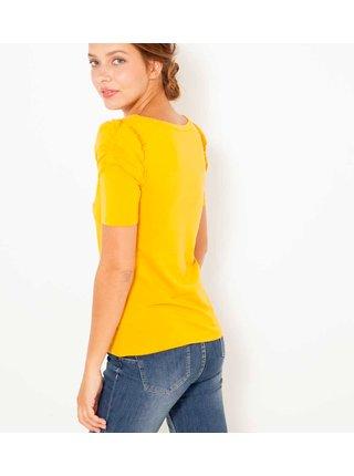 Žluté basic tričko CAMAIEU