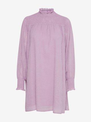 Světle fialové volné šaty ICHI