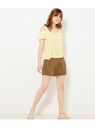 Žluté pruhované tričko CAMAIEU