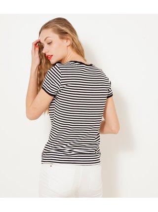 Tričká s krátkym rukávom pre ženy CAMAIEU - čierna, biela