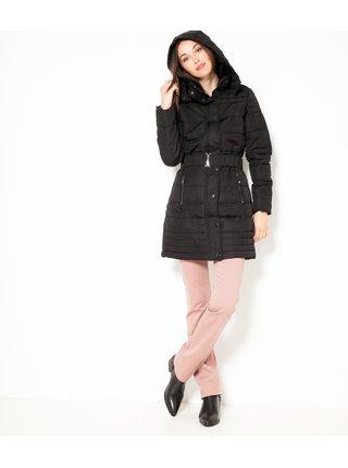 Černá prošívaná bunda s kapucí CAMAIEU