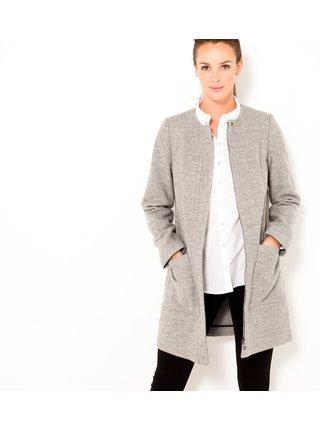 Svetlošedý ľahký kabát CAMAIEU