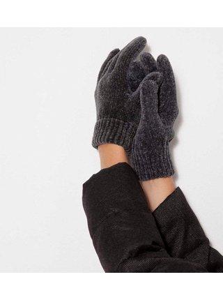 Tmavě šedé rukavice CAMAIEU