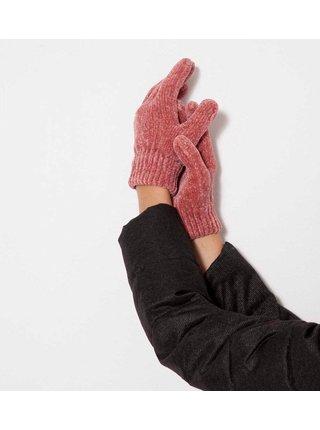 Růžové rukavice CAMAIEU
