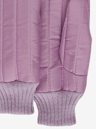 Světle fialové dámské prošívané rukavice ICHI