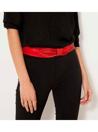 Červený kožený pásek s mašlí CAMAIEU