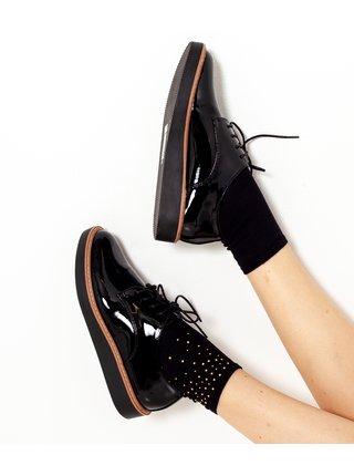 Černé ponožky se zdobením CAMAIEU