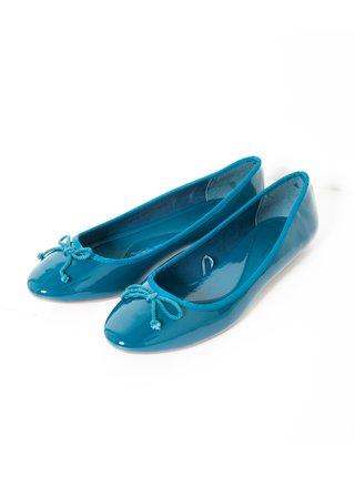 Modré lesklé baleríny CAMAIEU