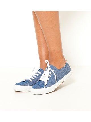 Modré žíhané tenisky CAMAIEU