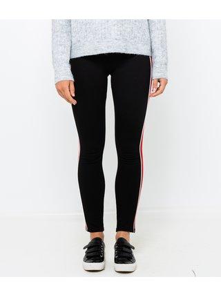 Červeno-černé slim fit kalhoty CAMAIEU
