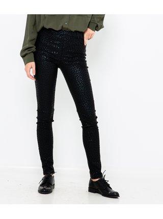 Černé skinny fit kalhoty se zvířecím vzorem CAMAIEU