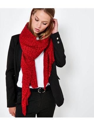 Červený šátek se zvířecím vzorem CAMAIEU
