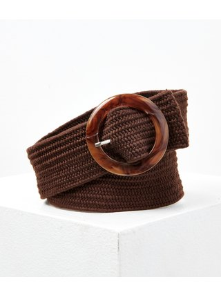 Hnedý pletený opasok CAMAIEU